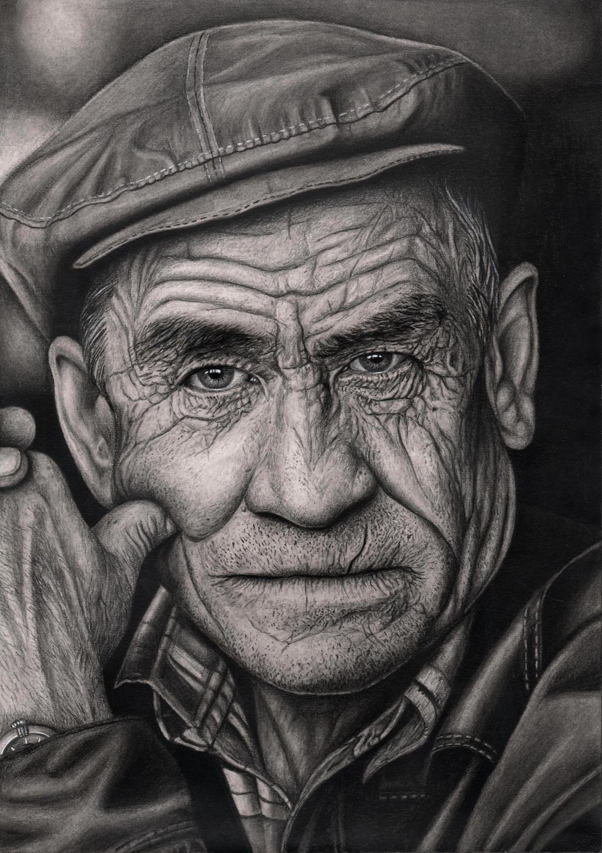 'OLD MAN' graphite drawing