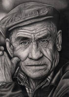 'OLD MAN' graphite drawing by Pen-Tacular-Artist