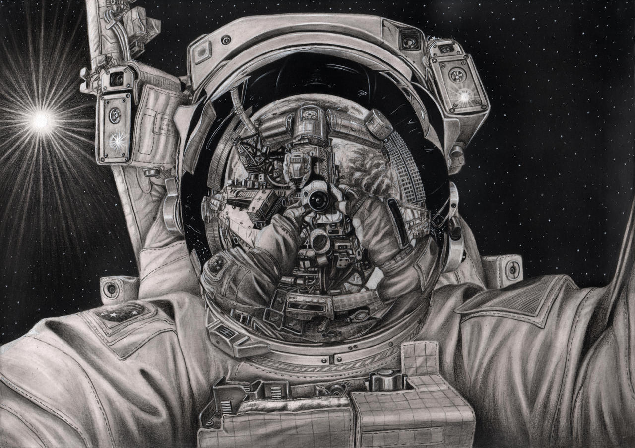 'The Final Frontier' graphite drawing