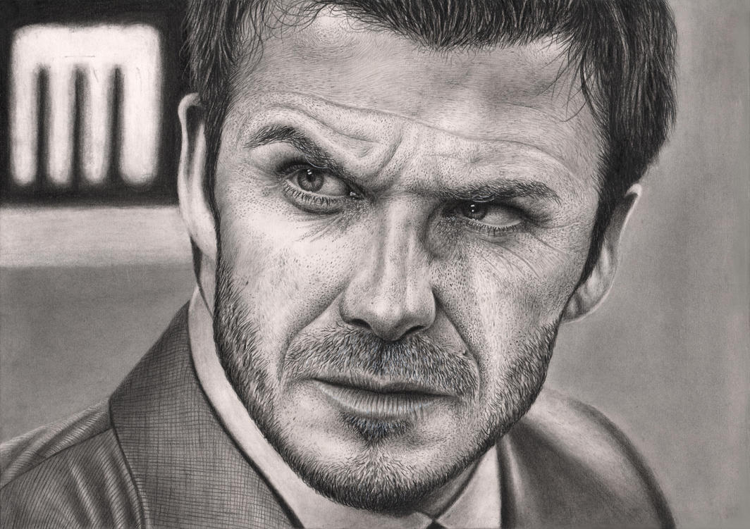 david beckham graphite drawing new technique by pen tacular