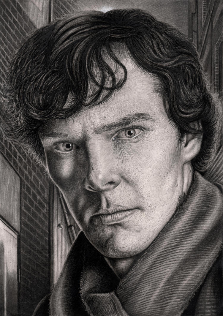 'SHERLOCK' graphite drawing by Pen-Tacular-Artist