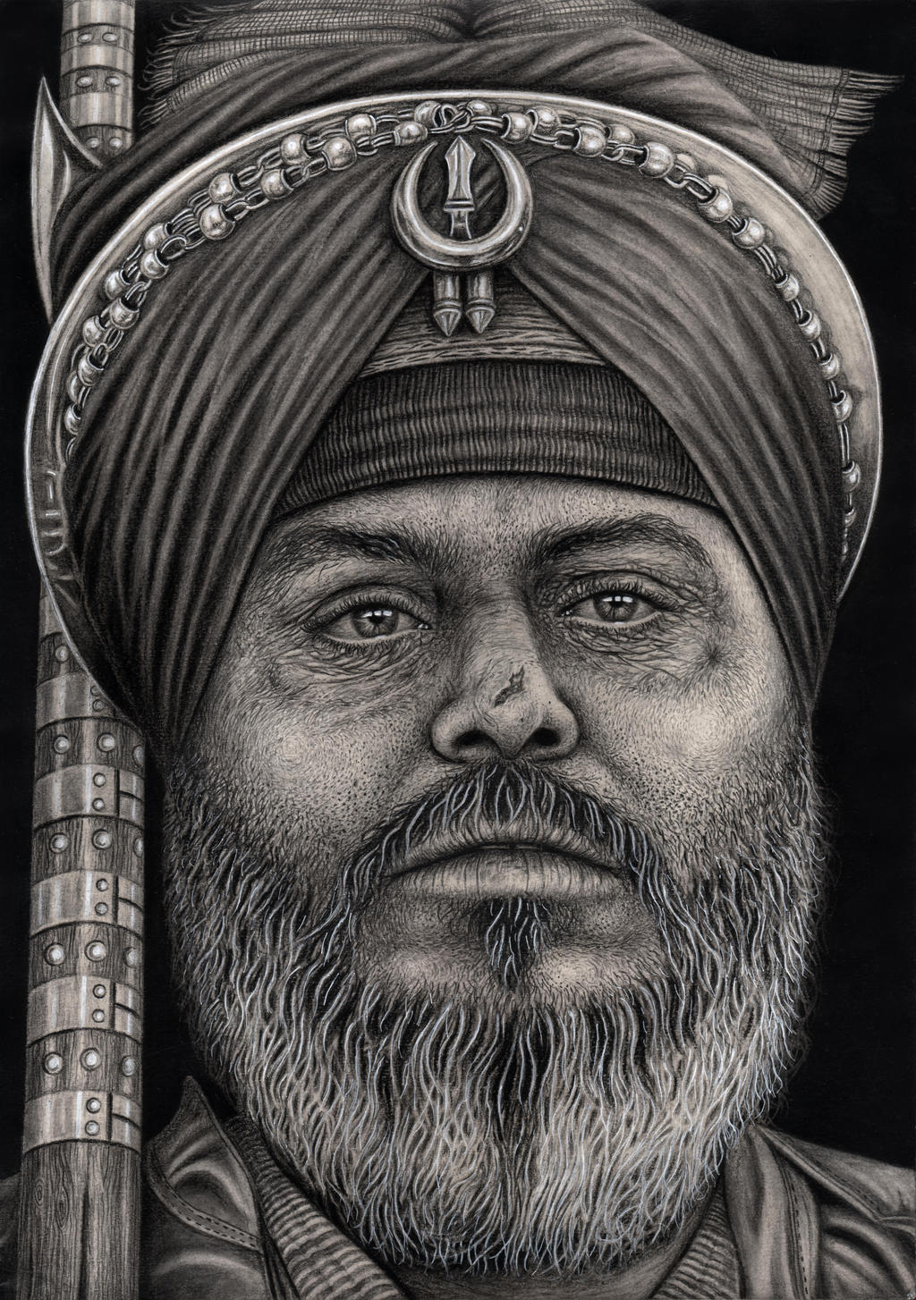 'SIKH WARRIOR' graphite drawing by Pen-Tacular-Artist on ...