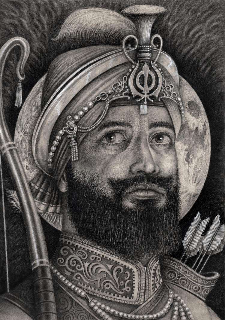 'GURU GOBIND SINGH' (gift for local temple) by Pen-Tacular- ... - _guru_gobind_singh___gift_for_local_temple__by_pen_tacular_artist-d727osu