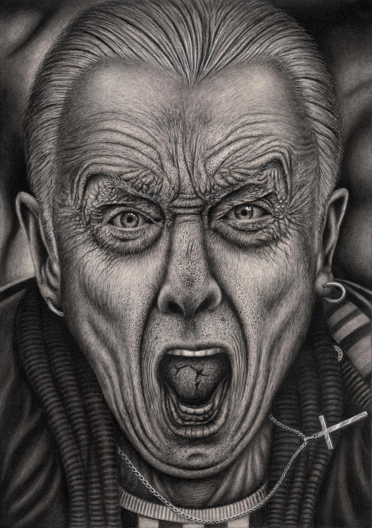'Growing old Disgracefully' graphite drawing by Pen-Tacular-Artist