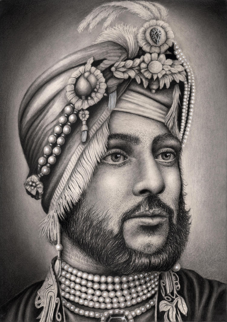 'MAHARAJA DULEEP SINGH' graphite drawing by Pen-Tacular-Artist