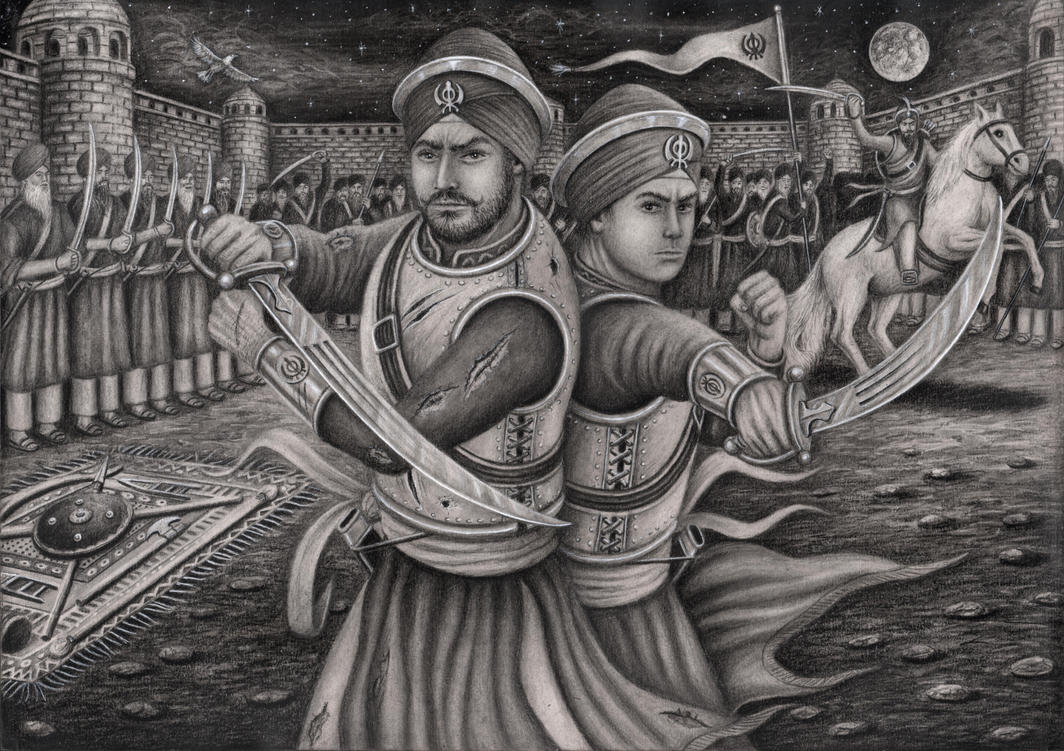 Sahibzada 'Ajit Singh' and 'Jujhar Singh' at the ' by Pen-Tacular-Artist