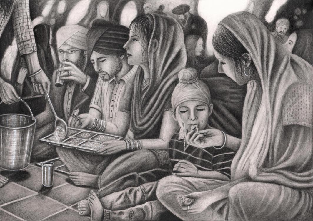 'Langar Hall (free kitchen)' by Pen-Tacular-Artist