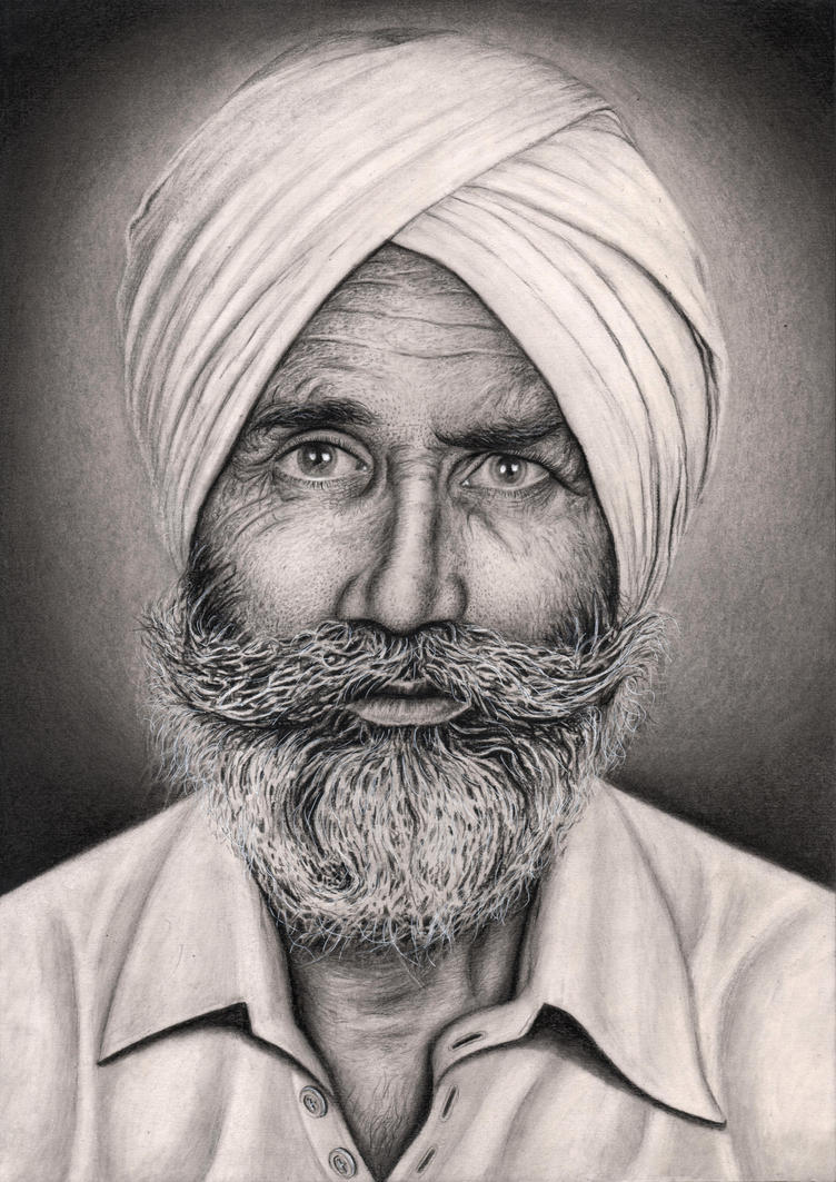 Private Commision of 'Parm Sandhu' late granddad. by Pen-Tacular-Artist