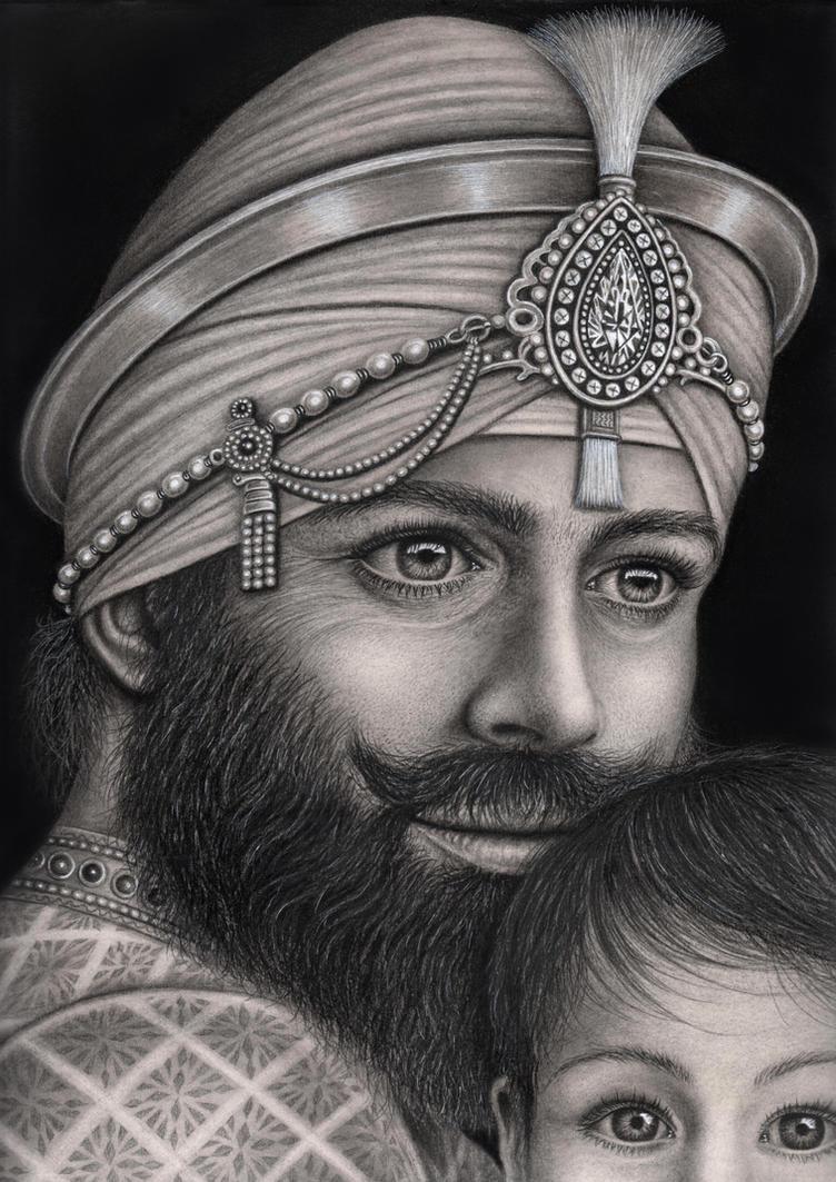 Guru Gobind Singh Ji  and  Baba Ajit Singh  by Pen-Tacular-ArtistGuru Gobind Singh Ji Sons
