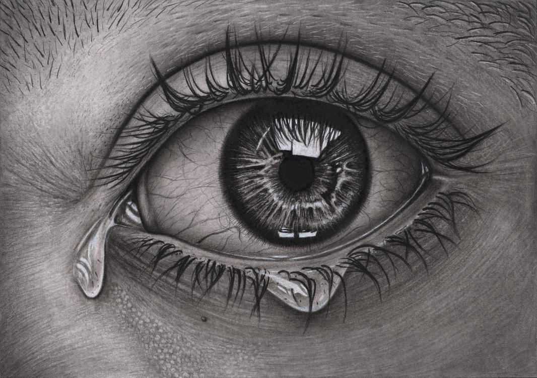 'Eye' Graphite and Charcoal drawing by Pen-Tacular-Artist