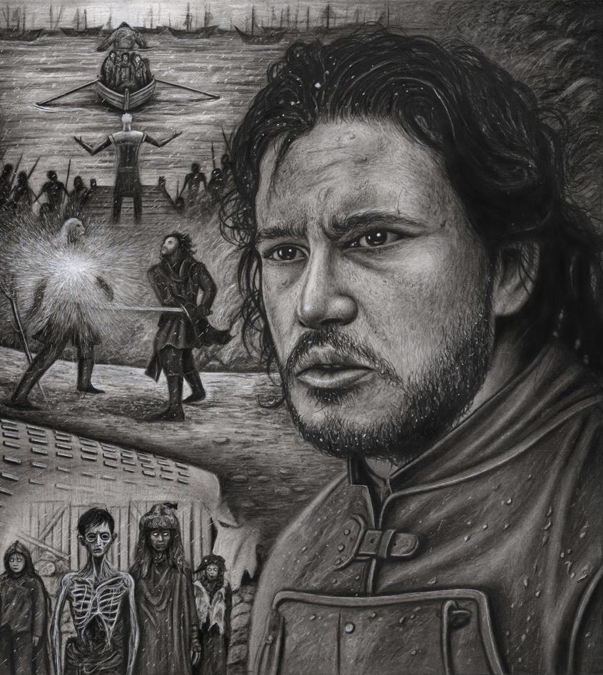 'JON SNOW' Game of Thrones by Pen-Tacular-Artist