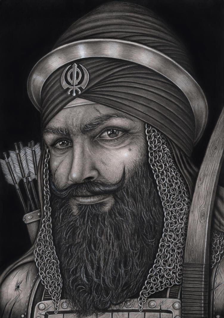 'Baba Banda Singh Bahadur' portrait by Pen-Tacular-Artist