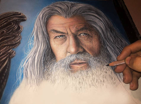 STAGE 2 GANDALF COLOUR PENCIL DRAWING