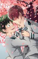 Tododeku: Cherry Blossoms by ototobo
