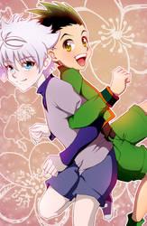 Killua and Gon : Pals by ototobo