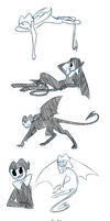 Big Bendy Doodles by The-Purple-Gremlin