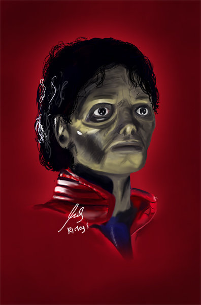 Speedpaint: MJ - Thriller by clouseth