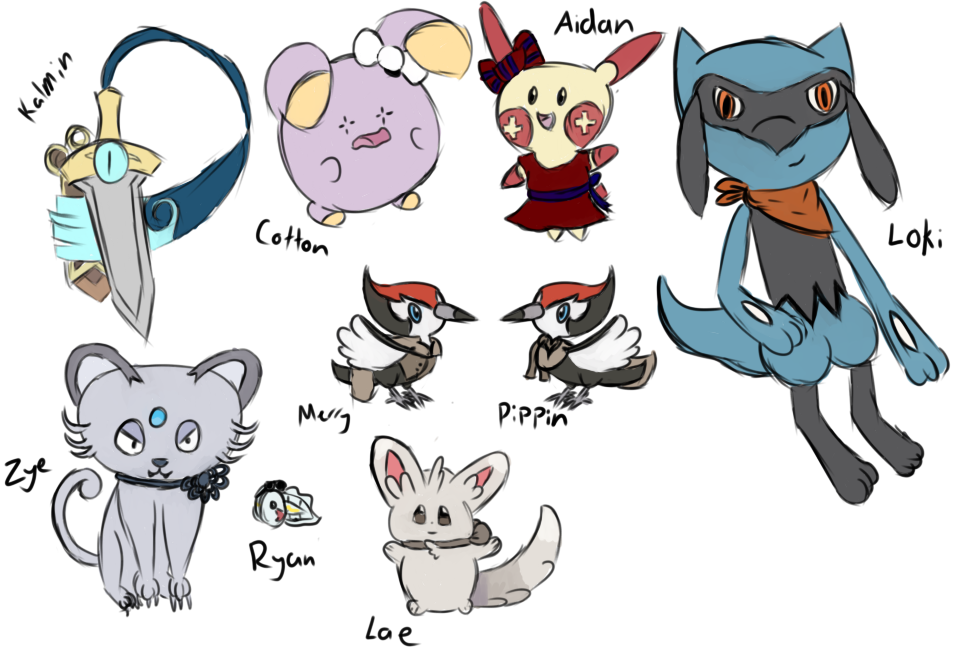 [PTS] Pokemon by cometdragonfly