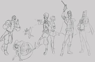 Wonder Villains sketch by CrimsomShade