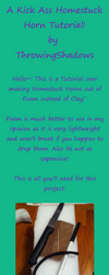 Foam Homestuck Horn Tutorial by TeaLeo