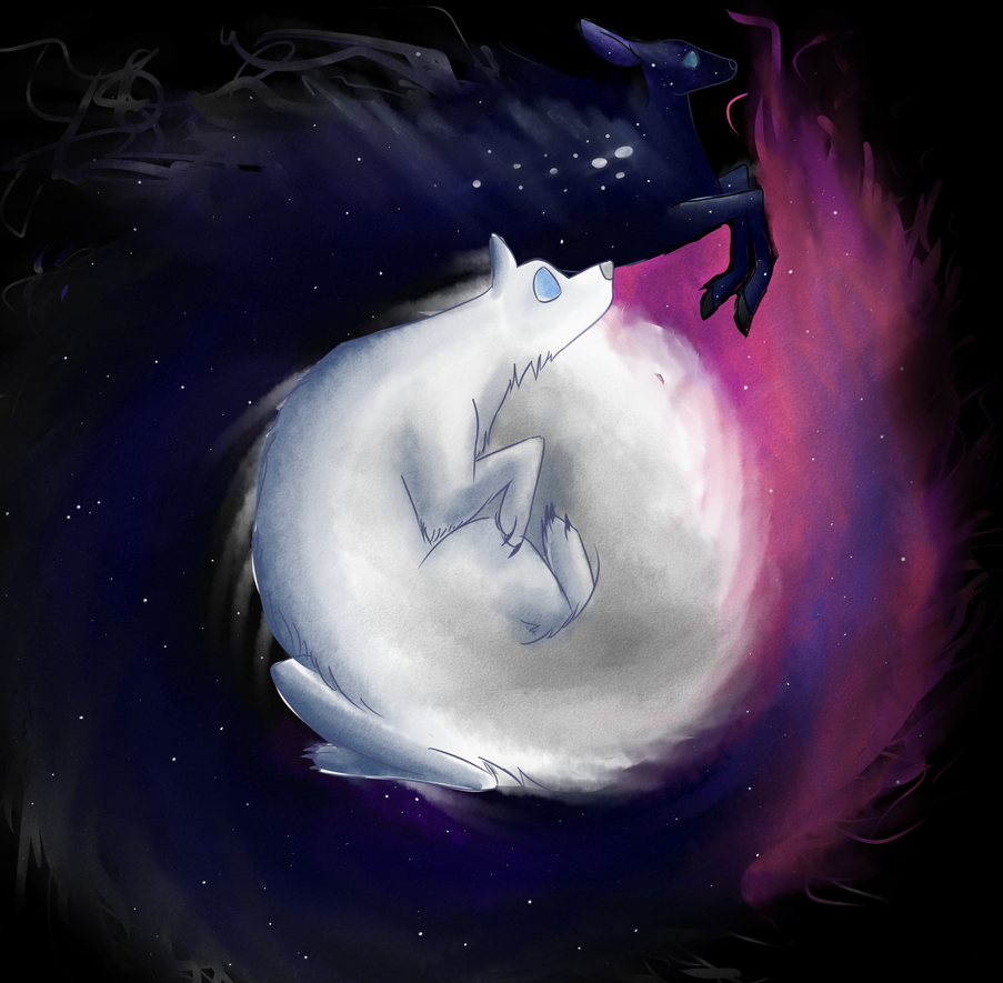 The Moon and the Stars by Stanny-Wolfie