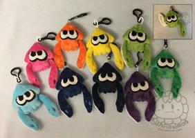 Splatoon Squid Plush Keychains by Sunflowmon