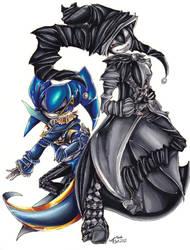 AT-Sabrina and Zeth by SpadesArts
