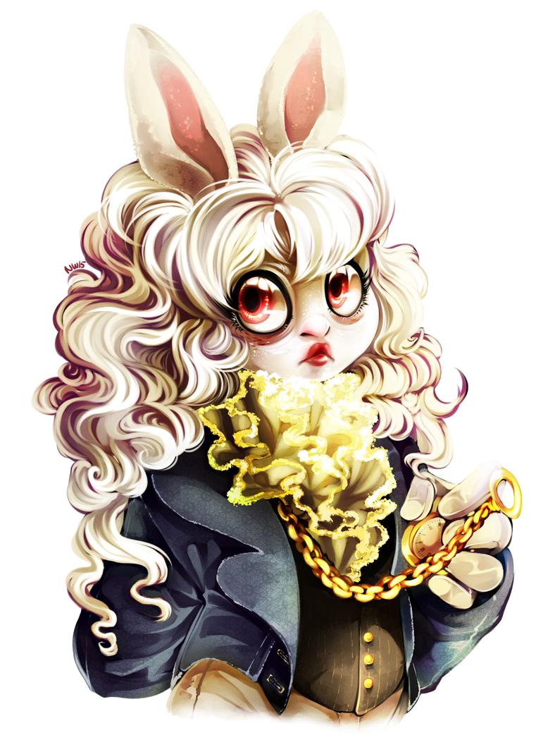 White Rabbit by SpadeNightmaren