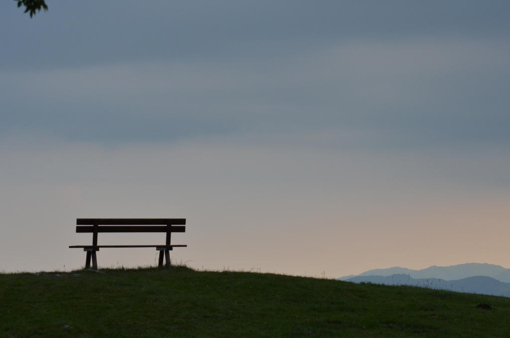Bench at the sunset by albyper84