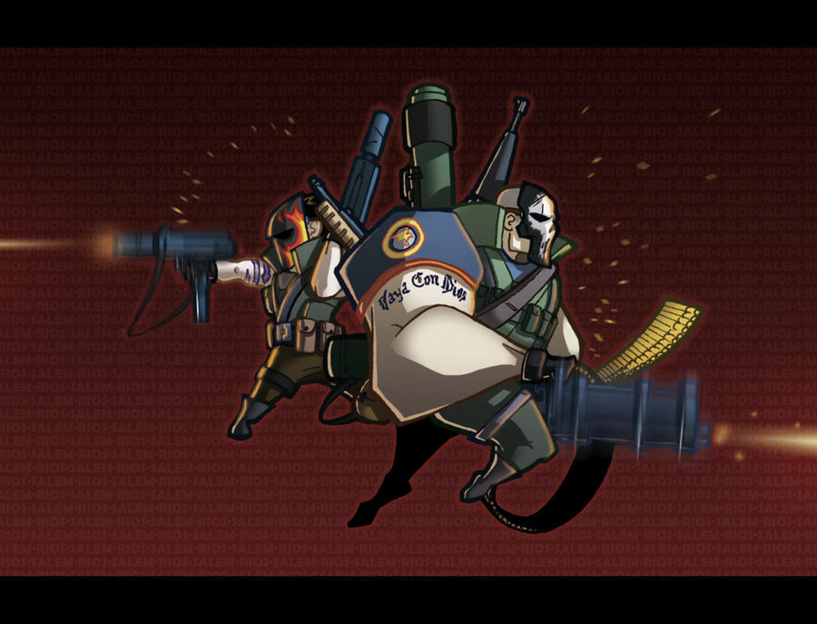 army of two 40th day by dnatemjin on deviantart