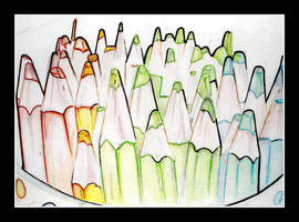Rainbow Pencils by stasha-pistachio