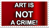 Art is not a crime stamp by quazo