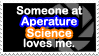 Aperature Science Love Stamp by quazo