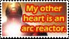 Arc reactor heart stamp