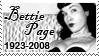 RIP Bettie Page Stamp by quazo