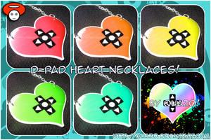 D-Pad Heart Necklaces by quazo