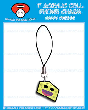 Acrylic Charm - Happy Cheese