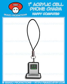 Acrylic Charm - Happy Computer