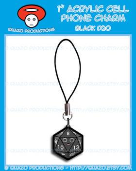 Acrylic Charm - Dice (Black)