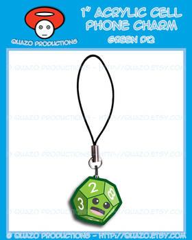 Acrylic Charm - Dice (Green)