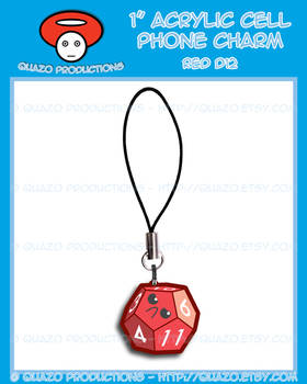 Acrylic Charm - Dice (Red)