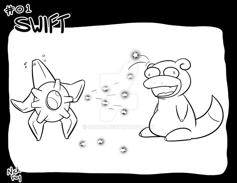 Inktober 2017: Pokemon Edition - Swift by quazo