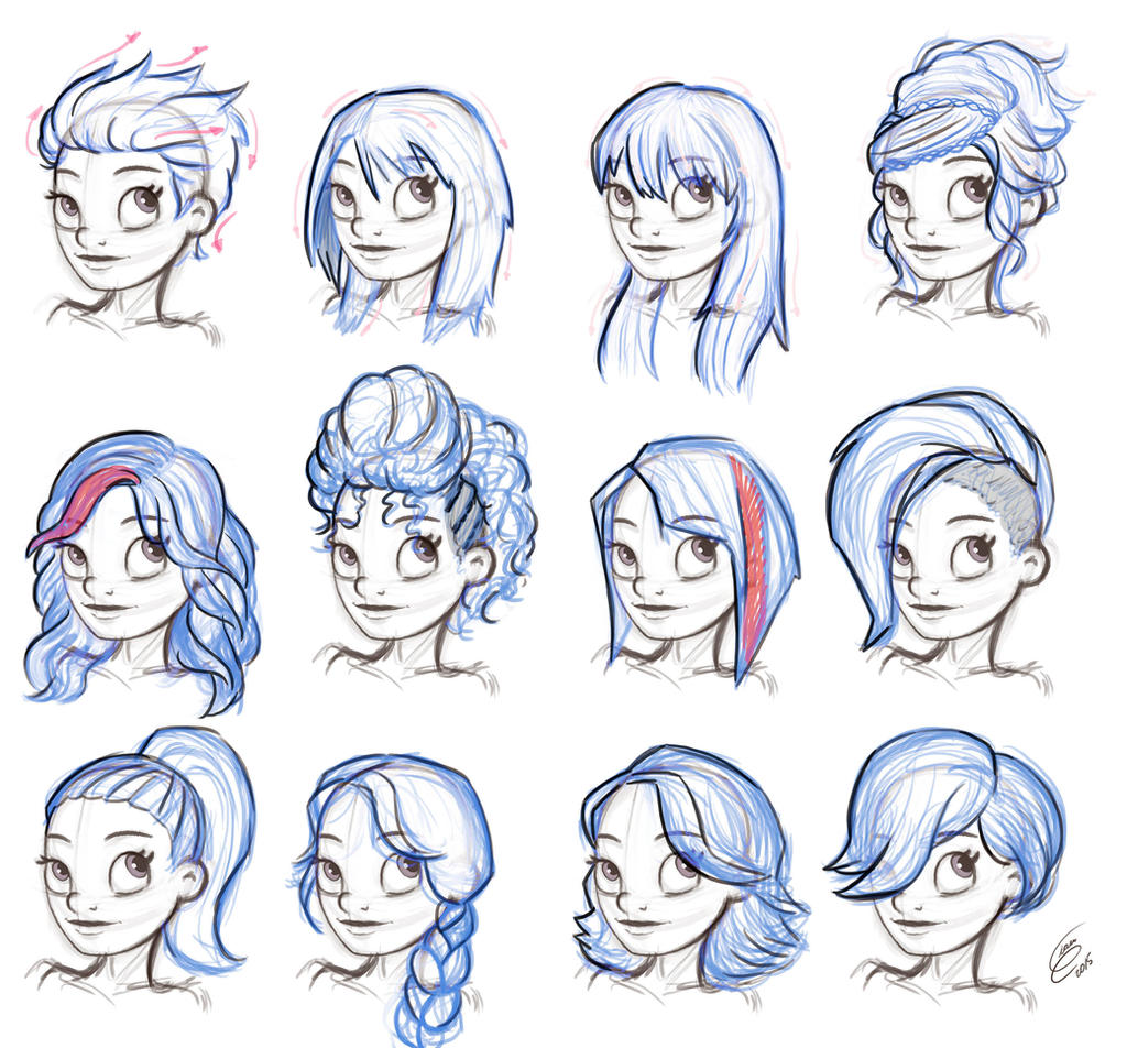 Reference Hairstyle Female By Gian16 On Deviantart