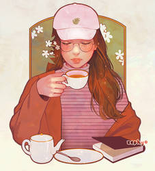 calm @ the cafe by zephy0