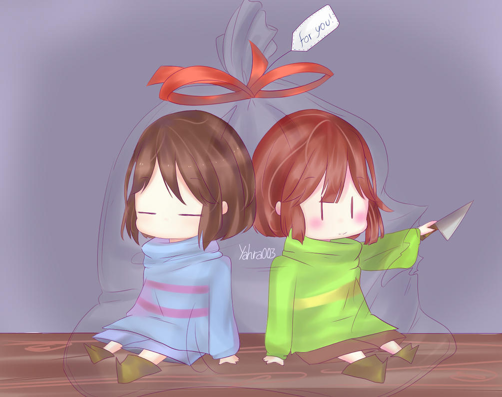 Frisk and Chara ~ by SaikoTsuneki