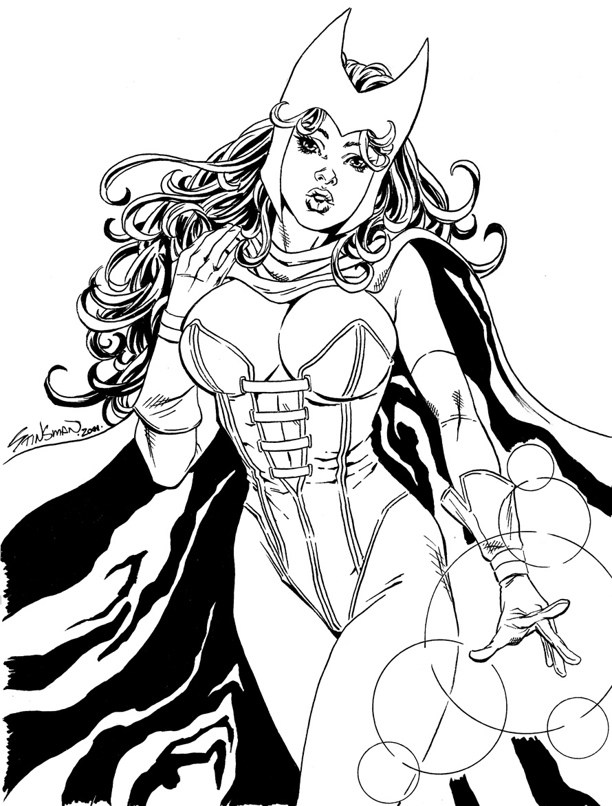 Scarlet Witch Commission 1 by John Stinsman on DeviantArt