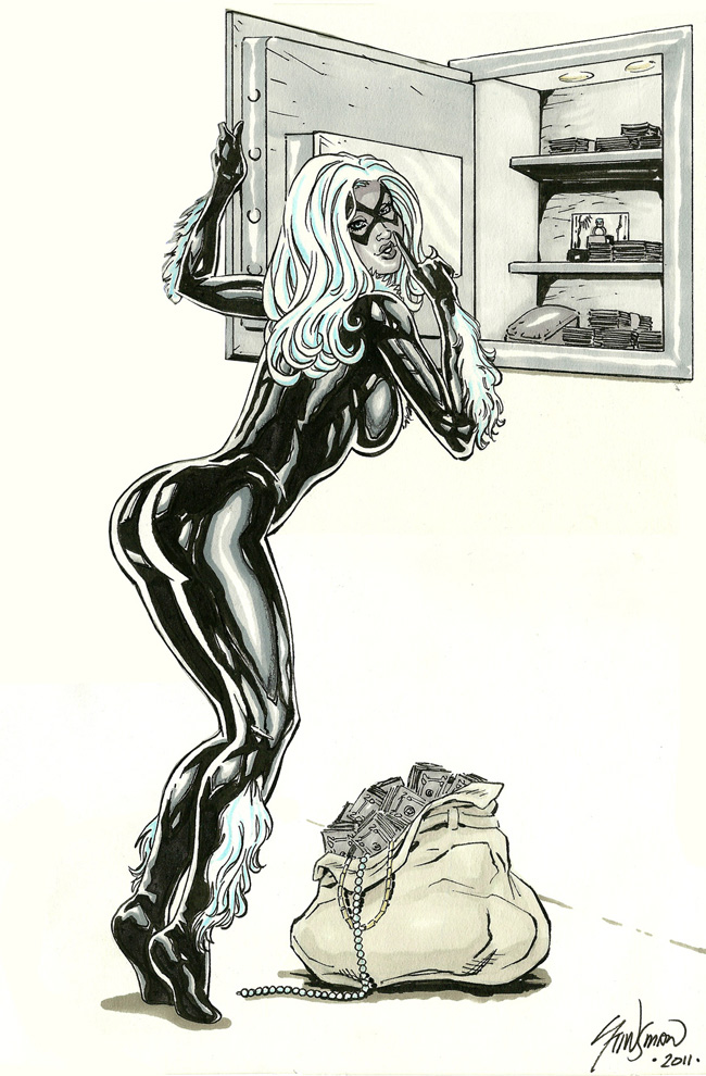 Black Cat Commission 01 by John-Stinsman