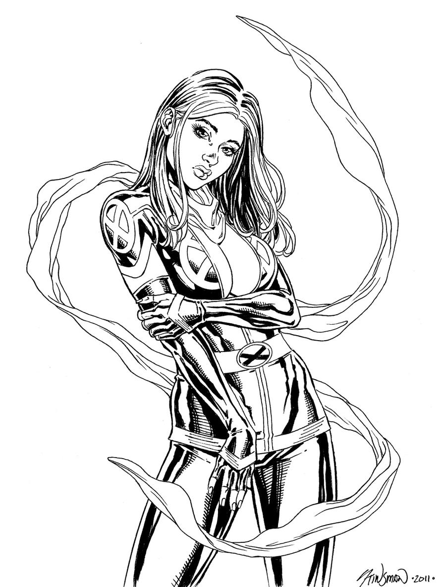 rogue x men coloring pages - photo#30