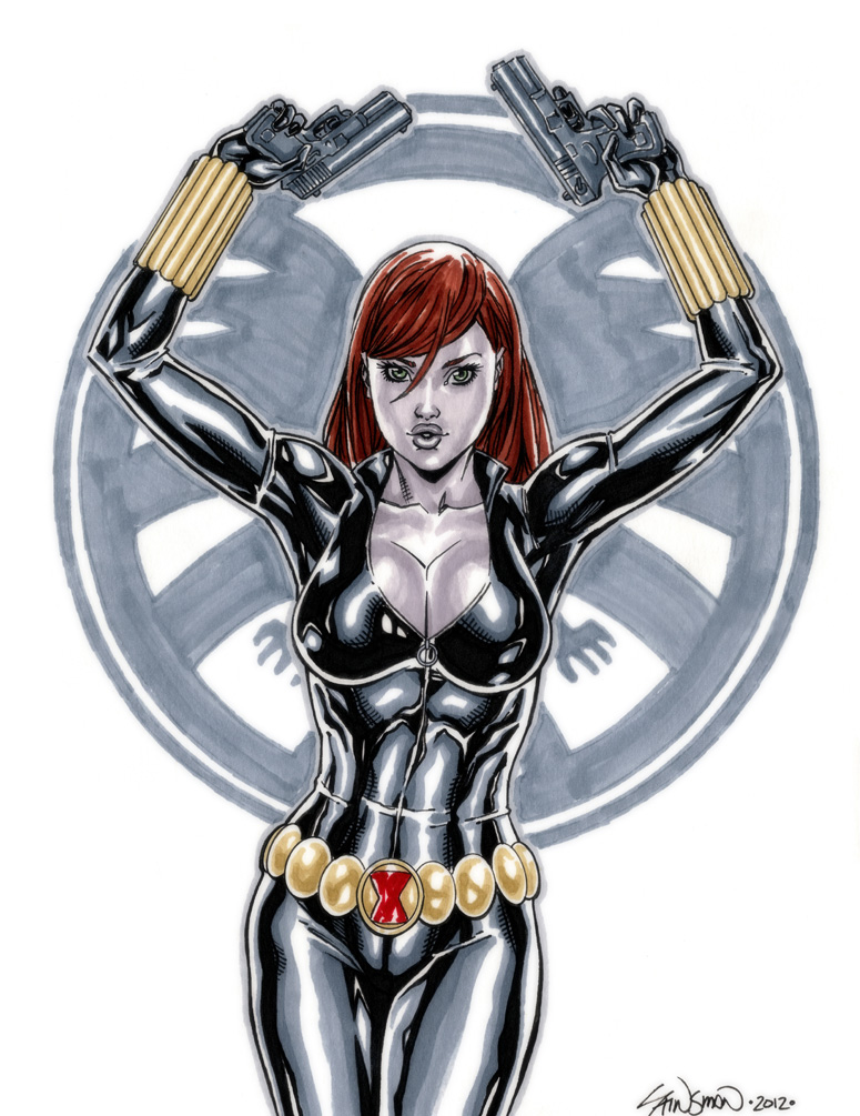 Black Widow Commission 02 by John-Stinsman