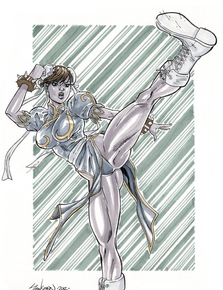 Street Fighter's Chuni Li Commission by John-Stinsman